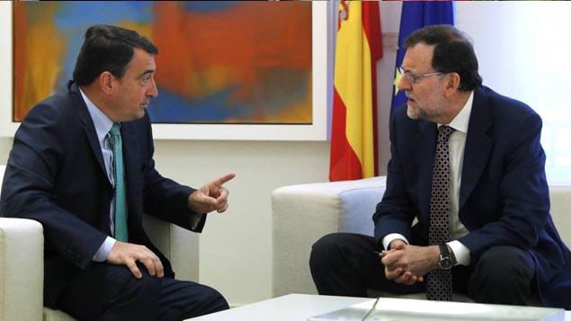 Reunión Aitor Estaban y Mariano Rajoy