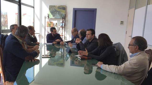 Reunión del Grupo Transfronterizo con el alcalde de La Línea