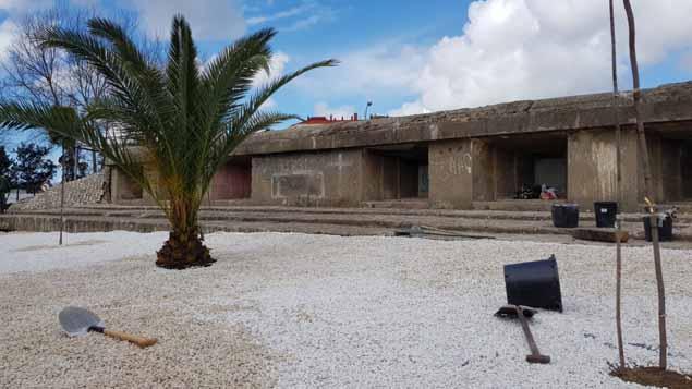 Bunker adecentado tras el colegio Sagrado Corazón