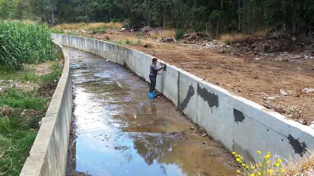 Canales y arrollos del Zabal en La Línea de la Concepción
